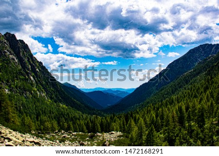 view of the Magna Pass in the granite way on the Lagorai in the dolomites in the Italian Alps part of the Tesino Plateau #1472168291