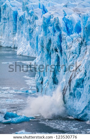 View of the magnificent Perito Moreno glacier, patagonia, Argentina.  ( HDR image ) - stock photo