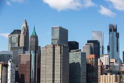 View of the Manhattan skyline.