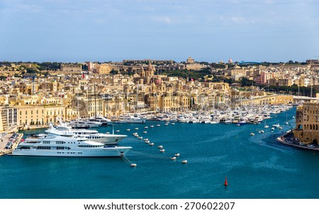 View of the marina in Valletta Malta