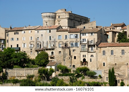 View of the medieval town Gordes, southern France