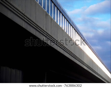 view of the metro line suspended structure #763886302