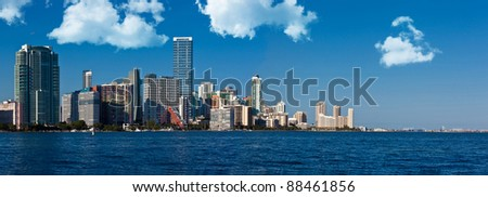 View of the Miami skyline