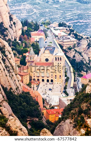 View of the monastery of Montserrat