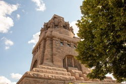 View of the Monument to the Battle of the Nations in