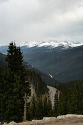 View of the mountains near Winter Park, Colorado. This was taken during the summer of 2019 on the summit of Berthoud Pass.