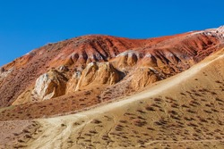 View of the multi-colored mountain