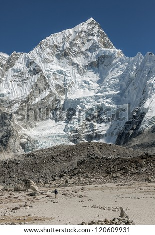 View of the Nuptse (7864 m) from Kala Patthar - Everest region, Nepal