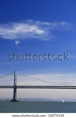 View of the Oakland bay bridge, San Francisco
