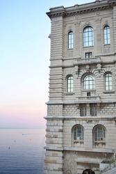 View of the Oceanographic Museum in Monaco