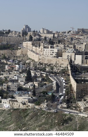 View of the Old City in Jerusalem, Israel - stock photo