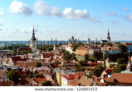 View of the old town (Tallinn, Estonia)