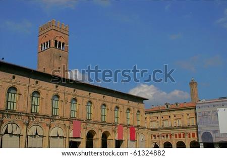 View of the Palazzo del Podesta, Bologna, Italy