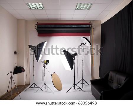 view of the photographic studio indoors