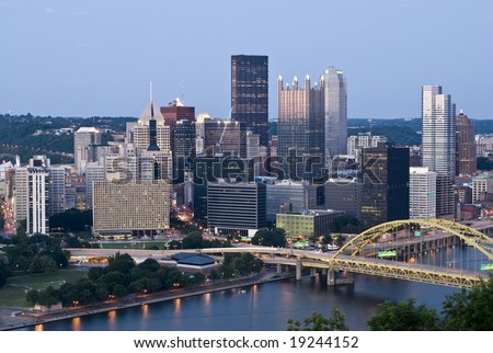 View of the Pittsburgh skyline from Grandview Avenue