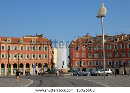 View of the Place Masséna in Nice, France