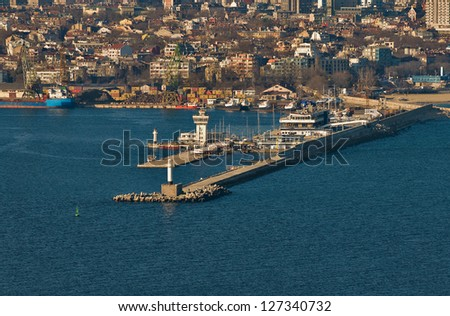 view of the port of Varna