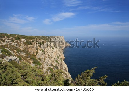 View of the portuguese coastline near Sesimbra