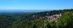 View of the Pyrenees at Saissac Languedoc - Roussillon  France