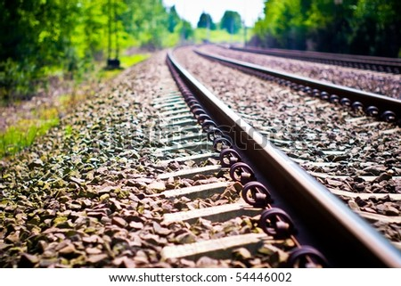 view of the railway track on a sunny day