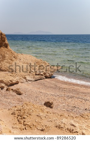 View of the Red Sea in the Sinai region of Egypt.