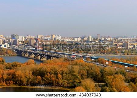 stock photo view of the right bank novosibirsk russia 434037040 - Каталог — Фотообои «Новосибирск»