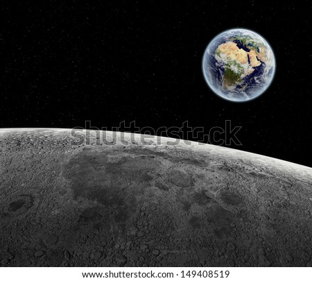 surface of moon as seen from earth - photo #13