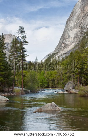 view of the river in yosemite national park, california, usa
