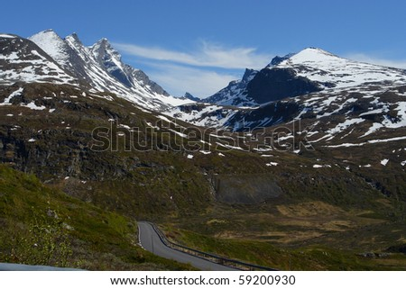 view of the road and mountains, norway