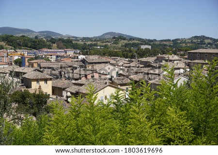view of the roofs of Tolentino Stock fotó ©
