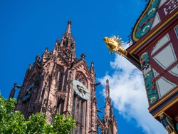 View of the Saint Bartholomew Frankfurt cathedral in Germany.