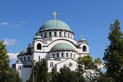 View of the Saint Sava Cathedral in Belgrade, Serbia. Saint Sava Cathedral is one of the most famous places to visit in Belgrade.