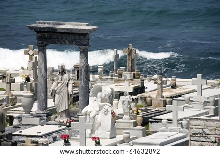 View of the Santa Maria Magdalena de Pazzis cemetery located in Old San Juan Puerto Rico.