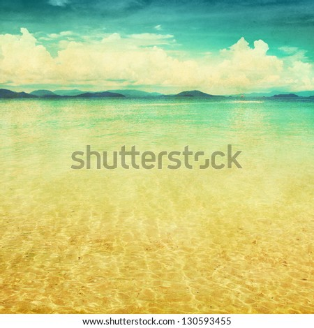 view of the sea in grunge and...