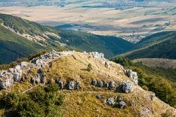 View of The Shipka Pass, Balkan Mountains, Bulgarka Nature Park, Bulgaria.