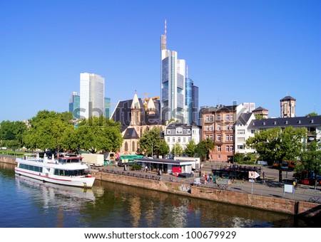 View of the skyline of Frankfurt, Germany