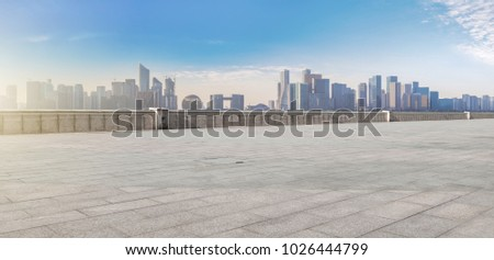 View of the skyline of Hangzhou urban architectural landscape fr #1026444799
