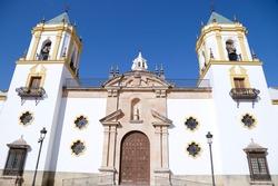 View of the Socorro Parish church, Ronda, Malaga, Spain