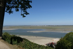 View of the Somme Bay from Saint Valery in France