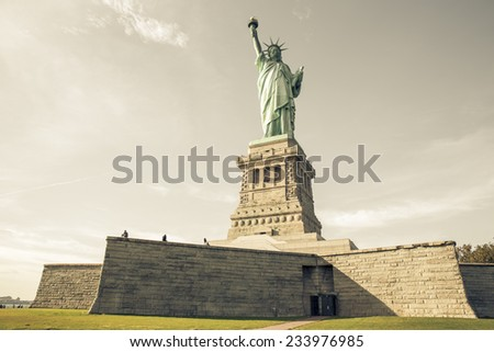 view of the statue of liberty...