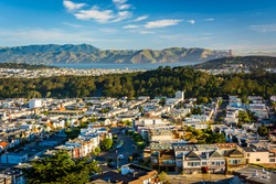 View of the Sunset District from Grand View Park, in San Francisco, California.