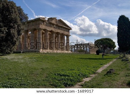 View of the temples at paestum
