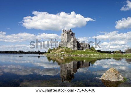 View of the 15th century Dunguaire Castle, Galway Bay in Kinvara, Ireland.