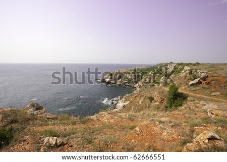 View of the Thracian cliffs near Cape Kaliakra, Bulgaria