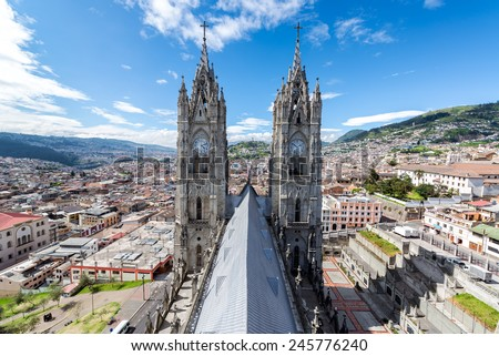 view of the towers of the...