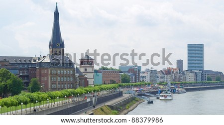 View of the town of Duesseldorf in Germany