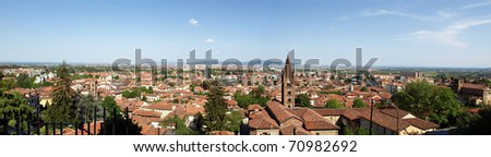 View of the town of Turin in Piedmont, Italy
