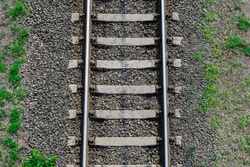 View of the tracks from above