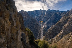 View of the tramway in the canyon