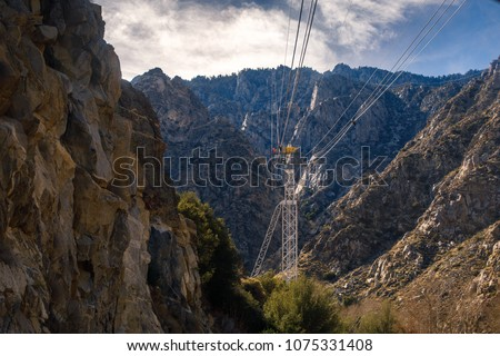 View of the tramway in the canyon - Shutterstock ID 1075331408